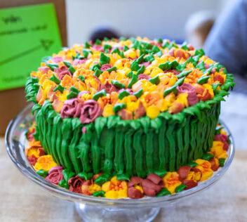 Bake sale cake raffle