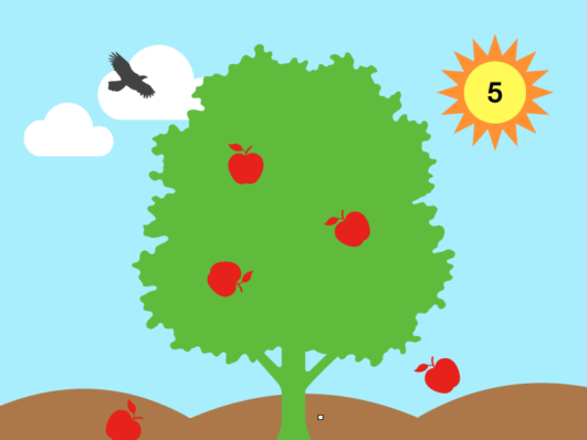 Preschool learning resource: Counting apples